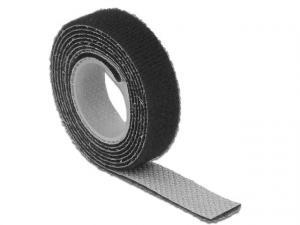 Organizer kabli rzep 1m x 13mm czarny