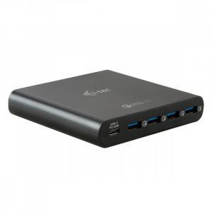 Zasilacz sieciowy uniwersalny USB-C USB-C Power Delivery + 4x USB-A QC 3.0, 80 W