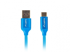 Kabel Premium USB CM - AM 2.0, 1m niebieski QC 3.0