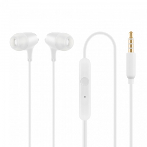 Słuchawki z mikrofonem HE22W douszne białe