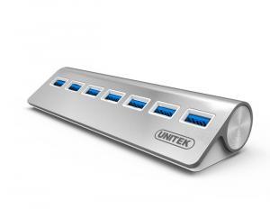 HUB 7x USB3.0 ALUMINIUM ; Y--3187
