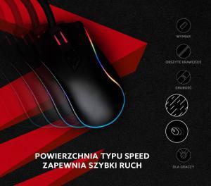 Podkładka pod mysz gaming SAVIO Turbo Dynamic M 450x450x3mm, obszyta