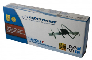 Antena zewnętrzna DVB-T Thunder S EAT104 (5dB, F, 75 Ohm)