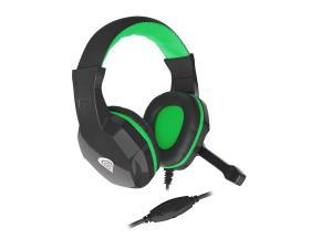 Słuchawki dla graczy Genesis Argon 100 z mikrofonem czarno-zielone