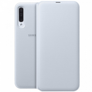Etui Wallet Cover do Galaxy A50 białe
