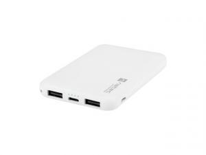 Power Bank Extreme Media Trevi Compact 5000mAh 2x USB + 1x USB-C biały