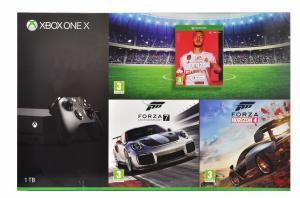 Konsola Xbox One X 1TB + Forza 4 + Forza M.7 + FIFA20