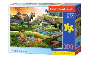 Puzzle 100 elementów - Świat dinozaurów
