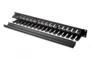 Organizator kablowy 19 cali 1U dukt W/40xG/70 czarny (RAL 9005)