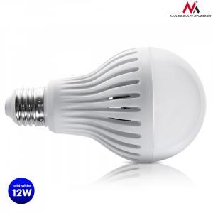 Żarówka LED E27 12W 230V Energy MCE176 CW zimna biała mikrofalowy czujnik ruchu i zmierzchu