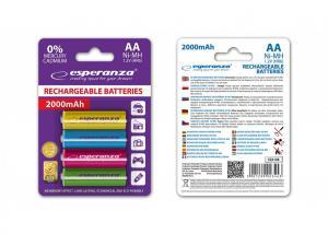 Akumulatory AA 2000mAh 4szt. mix kolorów