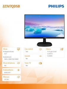 Monitor 21.5 223V7QDSB IPS DVI-D HDMI Czarny