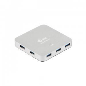 USB 3.0 Metal Charging HUB 7 Portów z zasilaczem, Plug & Play, funkcja ładowania
