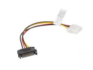 Kabel SATA zasilający - Molex M/F 15cm