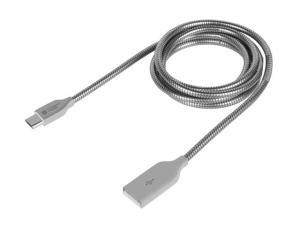 Kabel Extreme Media microUSB BM-AM 2.0 1m srebrny metal