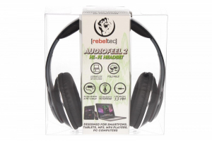 Słuchawki stereo z mikrofonem, 4pin mini jack AUDIOFEEL2 BLACK