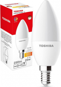 Lampa LED 3W 230V 250lm b.ciepły C37