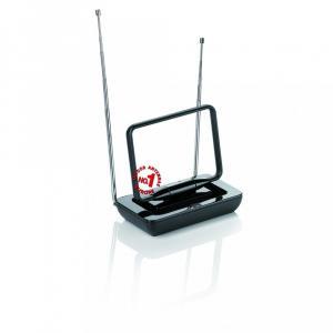 Antena wewnętrzna OFA Pasmo przenoszenia : VHF/UHF/FM 36db Kolor : czarny