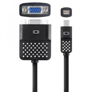 Adapter przejsciówka Mini DisplayPort do VGA 13cm czarny