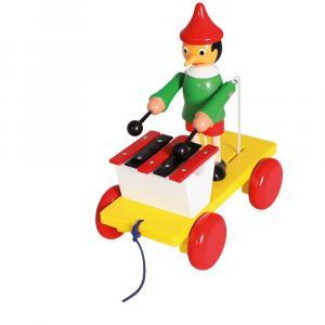 Drewniana zabawka z ksylofonem Pinokio