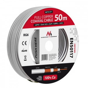 Kabel Koncentryczny RG6 50m MCTV-471