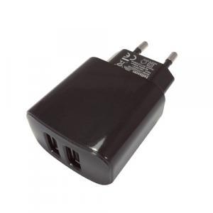 Ładowarka sieciowa 2xUSB 2A M094 Czarna