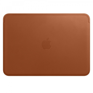 Leather Sleeve for 12 MacBook - Saddle Brown