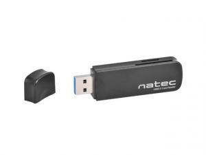 Czytnik kart pamięci Natec SCARAB SD/Micro SD USB 3.0 czarny