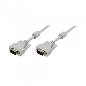 Kabel danych VGA 5m 2xferryt, szary