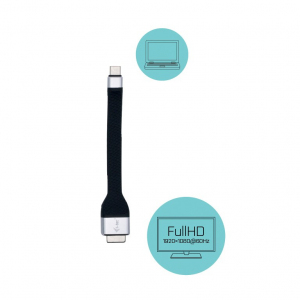 Adapter USB-C Flat VGA Full HD 1920p 60Hz
