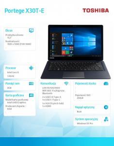 Notebook Portege X30T-E-13K W10P i5-8250U/8/256SSD/13.3 cala