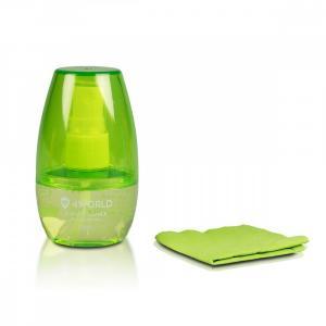 Zestaw czyszczący 50ml, ściereczka 15x15cm, zielony