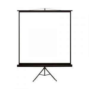 Ekran projekcyjny na statywie 152X152 1:1 biały matowy