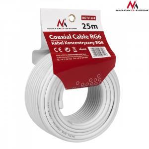 Kabel koncentryczny 1.0CCS RG6 25m MCTV-574