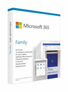 365 Family PL P6 1Y Win/Mac 6GQ-01161 Stary P/N: 6GQ-01016