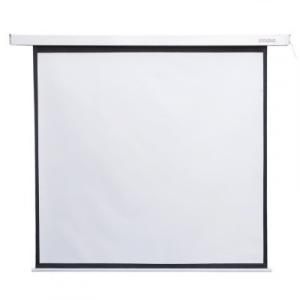 Elektryczny ekran projekcyjny ścieny/sufitowy z przełącznikiem 178X178 1:1 biały matowy