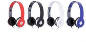 Stereofoniczne słuchawki z mikrofonem CRISTAL BLACK