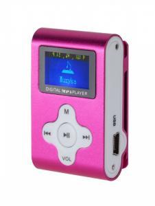 Odtwarzacz MP3 / Dyktafon / Radio FM z LCD różowy