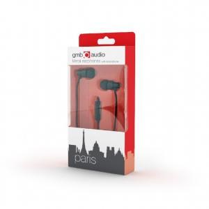 Słuchawki douszne PARIS z mikrofonem/czarne