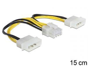 Kabel zasilający 8Pin EPS(F)->2x Molex 4Pin