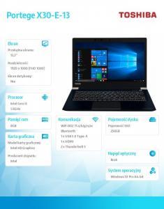Laptop Portege X30-E-13L W10PRO i5-8250U/8/256/integr/13.3