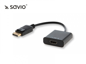 Adapter DisplayPort (M) - HDMI (F) SAVIO CL-55/B