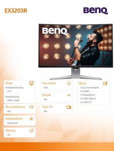 Monitor 32 EX3203R LED 4ms/144Hz/HDMI/QHD/HDR