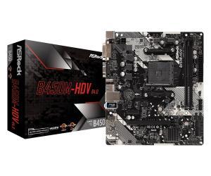 Płyta główna B450M-HDV R4.0 AM4 2DDR4 VGA/DVI/HDMI/M.2 uATX