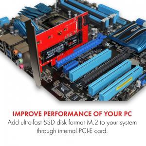 Adapter PCI-E SATA 2x M.2 Card PCI-E/SATA