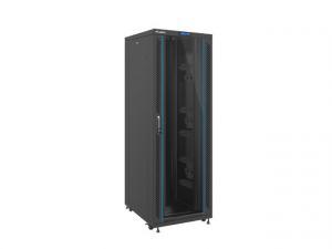 Szafa rack stojąca 19 cali 37U 800x1000mm czarna (drzwi szklane LCD)