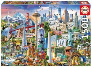 Puzzle 1500 elementów Symbole Ameryka północna