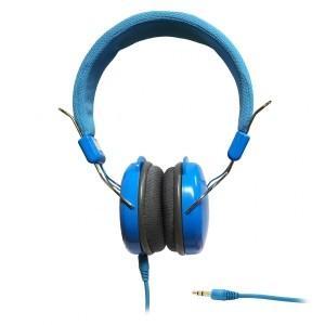 SŁUCHAWKI STEREO z mikrofonem AP-60B niebieskie