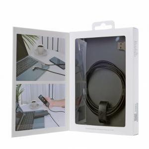 CB-BAL6 Black 90° nylonowy kątowy kabel Quick Charge USB-Lightning | 1.2m | Wtyki 90 stopni