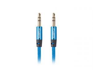 Kabel Premium Minijack - Minijack M/M 3.5mm 1m niebieski